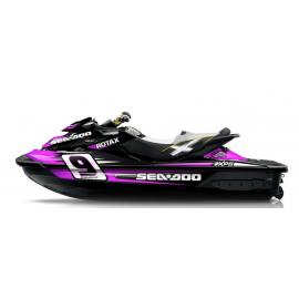 Kit dekor Monster Race Pink für Seadoo RXT 260 / 300 (S3-rumpf) -idgrafix
