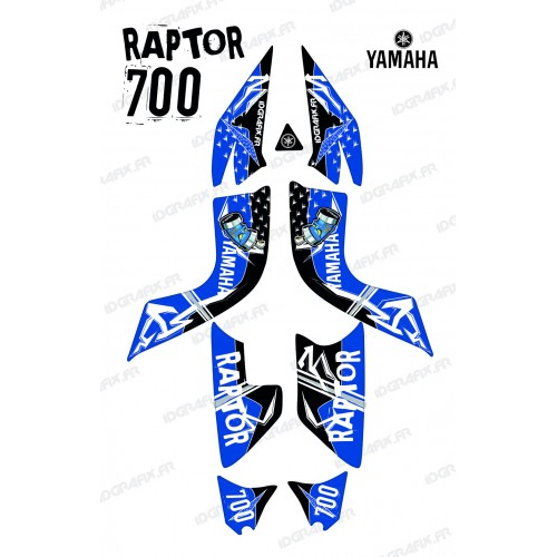 Kit de decoración de la Calle Azul - IDgrafix - Yamaha Raptor 700
