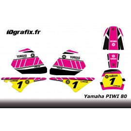 Kit decoration Pink Vintage Full - IDgrafix - Yamaha 80 Piwi