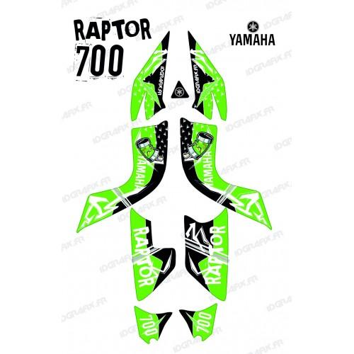Kit décoration Street Vert - IDgrafix - Yamaha 700 Raptor-idgrafix