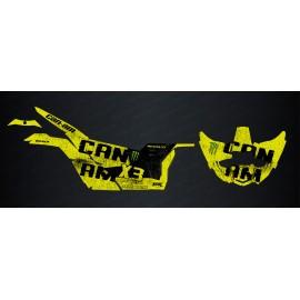 Kit décoration Spatter Edition (Jaune Manta) - Idgrafix - Can Am Maverick X3-idgrafix
