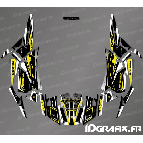 Kit decoration Factory Edition (Grey/Yellow)- IDgrafix - Polaris RZR 1000 Turbo - IDgrafix