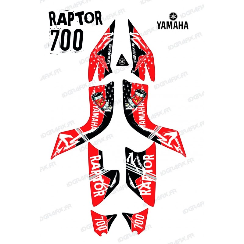 Kit decoration Street Red - IDgrafix - Yamaha 700 Raptor-idgrafix