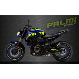 Kit de decoració Palmi Edició Blau/groc Fluo - IDgrafix - Yamaha MT-07 (després de 2018) -idgrafix