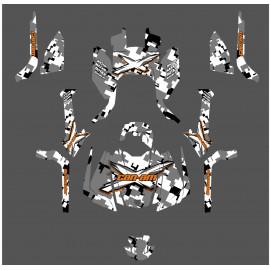 Kit de decoració Digital Camo Edició Completa (Taronja) - IDgrafix - Can Am Outlander G2 -idgrafix