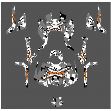 Kit decoration Digital Camo Full Edition (Orange) - IDgrafix - Can Am Outlander G2 - IDgrafix