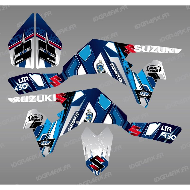 Kit décoration Pics Bleu - IDgrafix - Suzuki  LTR 450 - Idgrafix