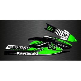 Kit décoration Monster DC (vert) pour Kawasaki SX-SXR-SXI 750