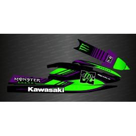 Kit de décoration Monstre DC (color Lila i Verd) per a Kawasaki SX-SXR-SXI 750 -idgrafix