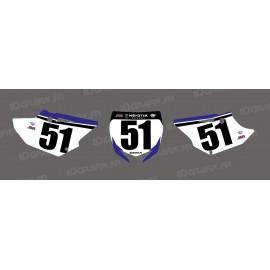 Kit décoration Plaque Numéro Barcia Edition - Yamaha YZ/YZF