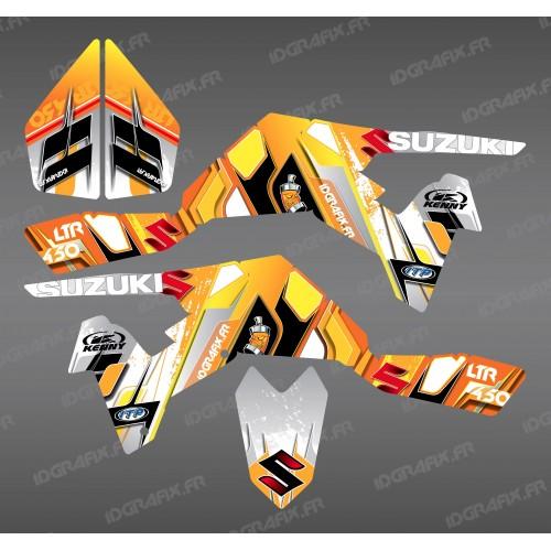 Kit décoration Pics Jaune - IDgrafix - Suzuki LTR 450-idgrafix