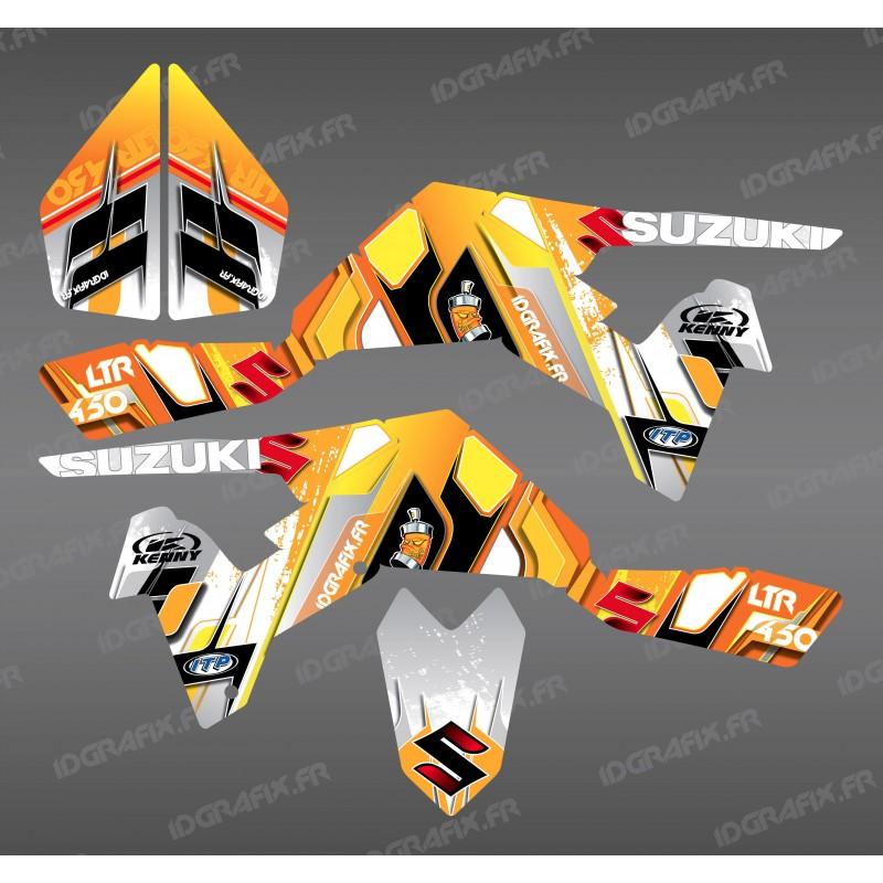 Kit décoration Pics Jaune - IDgrafix - Suzuki  LTR 450 - Idgrafix