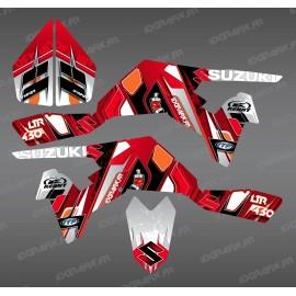 Kit décoration Pics Rouge - IDgrafix - Suzuki  LTR 450