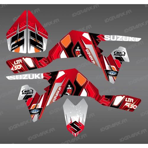 Kit décoration Pics Rouge - IDgrafix - Suzuki LTR 450-idgrafix