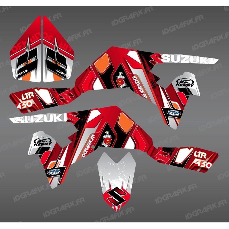 Kit décoration Pics Rouge - IDgrafix - Suzuki  LTR 450 - Idgrafix