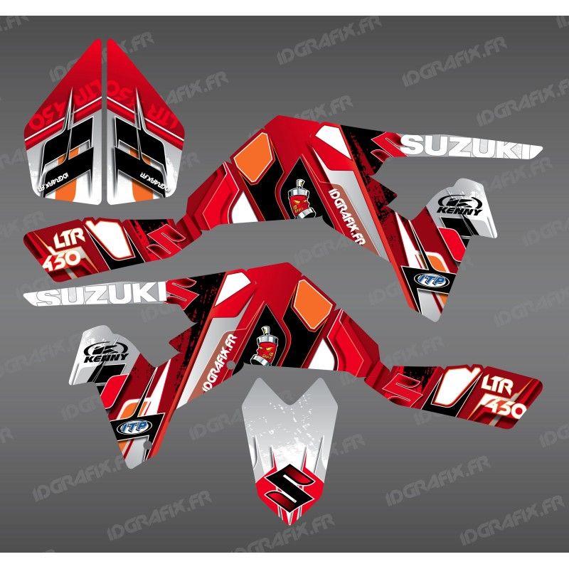 Kit de decoración de Fotos Roja - IDgrafix - Suzuki LTR 450