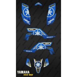 Kit décoration Karbonik  Bleu/Jaune - IDgrafix - Yamaha YFZ 450 / YFZ 450R