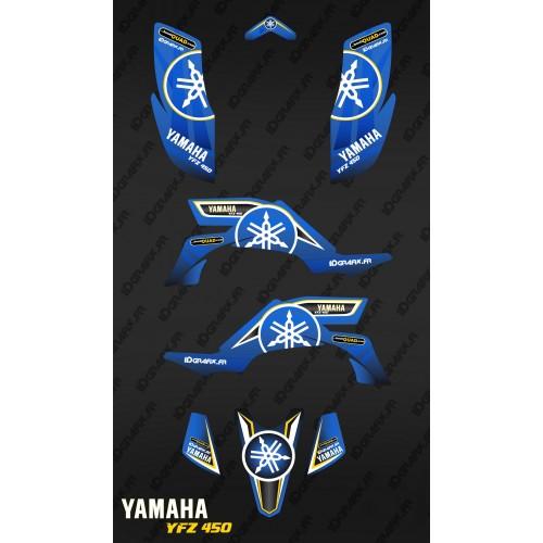 Kit décoration Karbonik Bleu/Jaune - IDgrafix - Yamaha YFZ 450 / YFZ 450R-idgrafix
