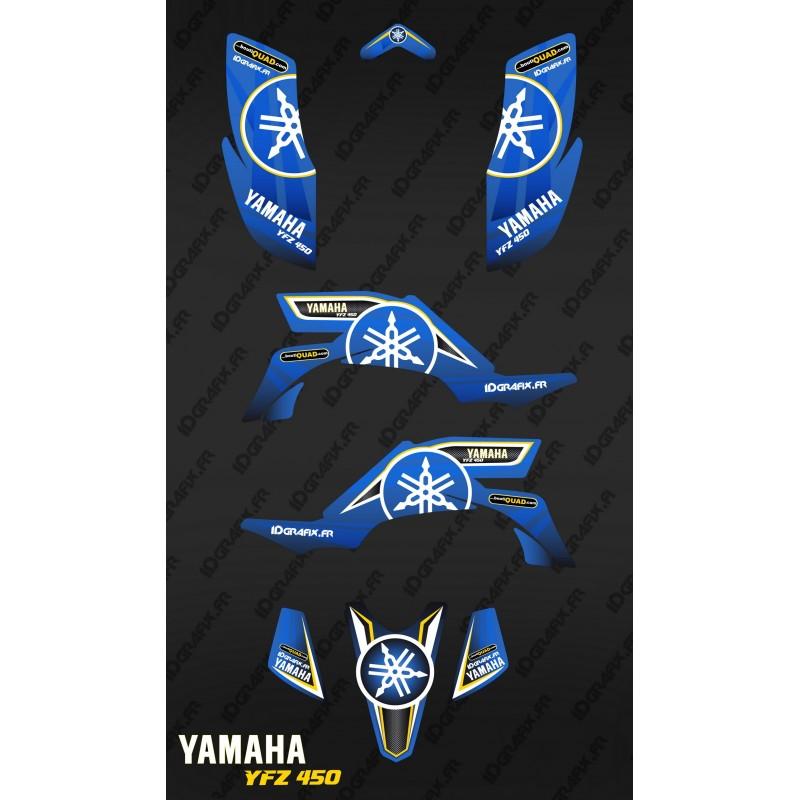 Kit decoration Karbonik Blue - IDgrafix - Yamaha YFZ 450-idgrafix