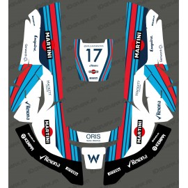 Etiqueta engomada de la F1 Williams edición - Robot cortacésped Husqvarna AUTOMOWER -idgrafix