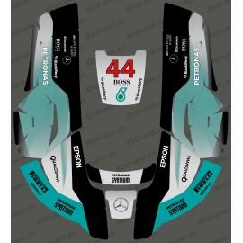 Pegatinas de F1 Mercedes edición - Robot cortacésped Husqvarna AUTOMOWER -idgrafix