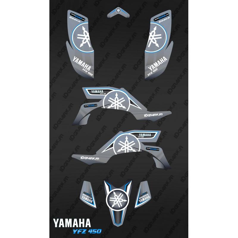 Kit décoration Karbonik Gris - IDgrafix - Yamaha YFZ 450 / YFZ 450R-idgrafix