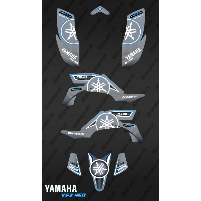 Kit dekor Karbonik Grau - IDgrafix - Yamaha YFZ 450 -idgrafix