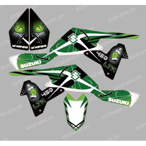 Kit décoration Space Vert - IDgrafix - Suzuki LTR 450-idgrafix