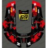 Sticker Monster edition (Red) - Robot mower Husqvarna AUTOMOWER