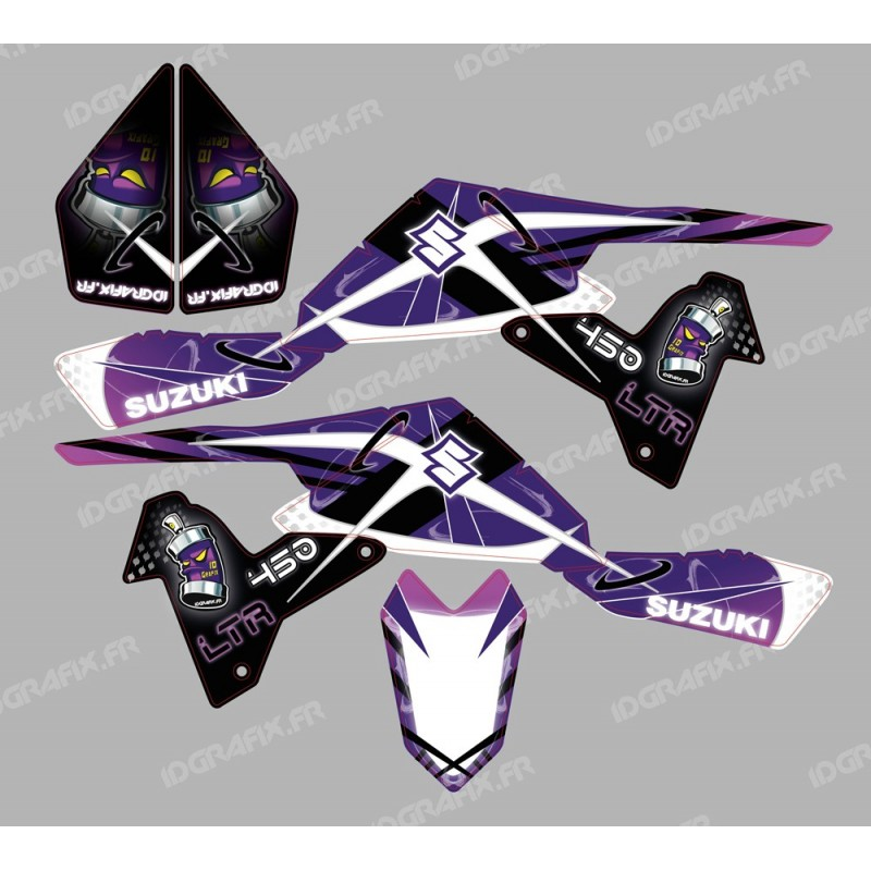 Kit décoration Space Purple - IDgrafix - Suzuki LTR 450-idgrafix