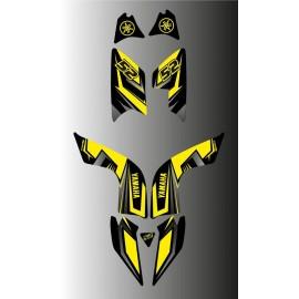 Kit décoration Fury Edition (Gris/Jaune) - IDgrafix - Yamaha 700 Raptor
