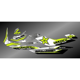 Kit décoration Rockstar Camo Edition Full (Lime) - pour Seadoo GTI
