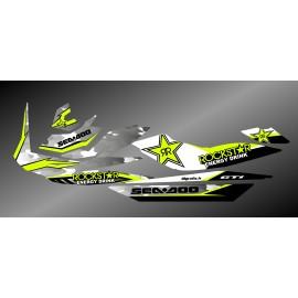 Kit de decoración de Rockstar Camo Edición Completa (Lima) - para Seadoo GTI -idgrafix