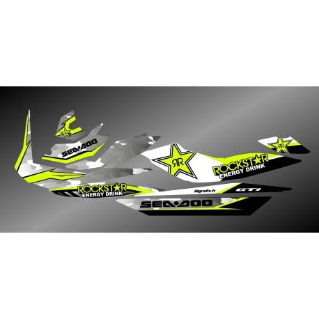Kit decoration Rockstar Camo Edition Full (Lime) - for Seadoo GTI - IDgrafix