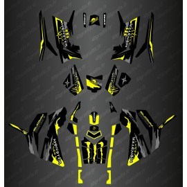 Kit décoration Monster Yellow Edition (Full) - IDgrafix - Polaris 850/1000 Scrambler