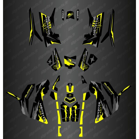 Kit décoration Monster Yellow Edition (Full) - IDgrafix - Polaris 850/1000 Scrambler - IDgrafix