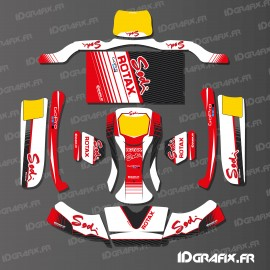 Kit deco Factory Edition Sodi Racing (Blanco/Rojo) para el Karting KG BURU EVO -idgrafix