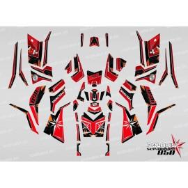 Kit decoration SpiderStar Red/Black (Full) - IDgrafix - Polaris 850 Scrambler
