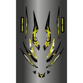 Kit décoration Rockstar Jaune pour Seadoo RXT 215-255