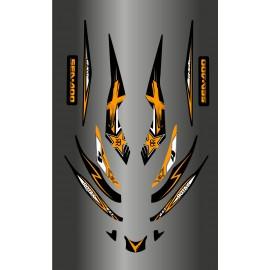 Kit décoration Rockstar Orange pour Seadoo RXT 215-255