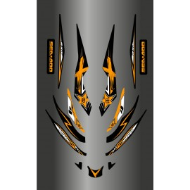 Kit de decoración de Rockstar Naranja para Seadoo RXT 215-255 -idgrafix