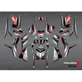 Kit de decoración de SpiderStar-Negro/Gris (Completo) - IDgrafix - Polaris 850/1000 Scrambler