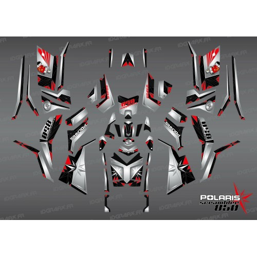 Kit decorazione SpiderStar-Nero/Grigio (Completa) - IDgrafix - Polaris 850/1000 Scrambler