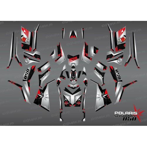 Kit dekor SpiderStar Schwarz/Grau (Full) - IDgrafix - Polaris Scrambler 850/1000