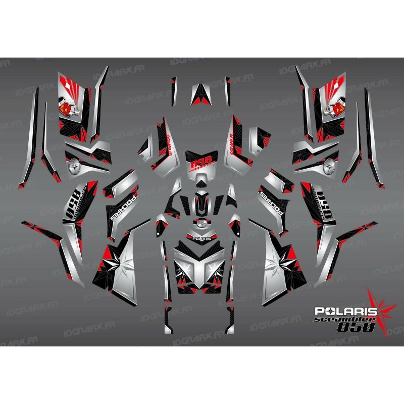 Kit de decoración de SpiderStar-Negro/Gris (Completo) - IDgrafix - Polaris 850/1000 Scrambler -idgrafix