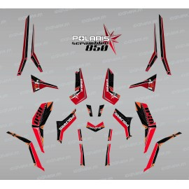 Kit dekor SpiderStar Rot/Schwarz (Light) - IDgrafix - Polaris Scrambler 850