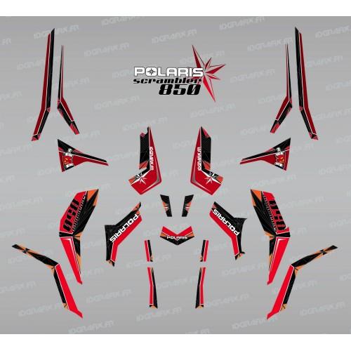 Kit de decoración de SpiderStar Rojo/Negro (Luz) - IDgrafix - Polaris Scrambler 850