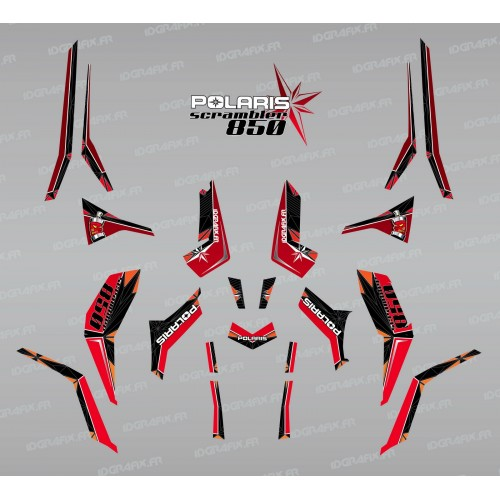 Kit decoration SpiderStar Red/Black (Light) - IDgrafix - Polaris 850 Scrambler-idgrafix