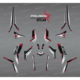Kit décoration SpiderStar Noir/Gris (Light) - IDgrafix - Polaris 850 Scrambler