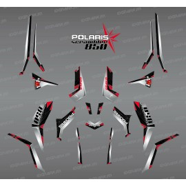 Kit de decoración de SpiderStar-Negro/Gris (Luz) - IDgrafix - Polaris Scrambler 850
